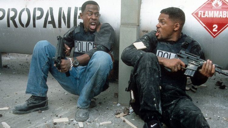 Bad Boys (1995 film) movie scenes Martin Lawrence and Will Smith defend themselves in a scene from the film Bad Boys 1995