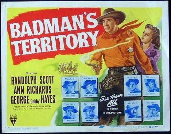 Badman's Territory Lauras Miscellaneous Musings Tonights Movie Badmans Territory
