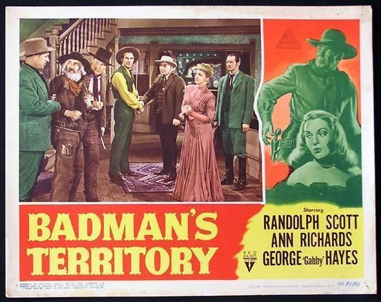 Badman's Territory BADMANS TERRITORY 1946 Randoph Scott RKO Lobby Card 5