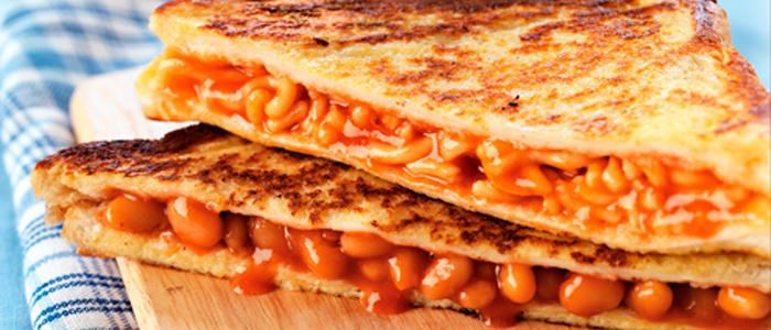 Baked bean sandwich Toasted Bean Sandwich Beans on Toast Recipes Healthyliving