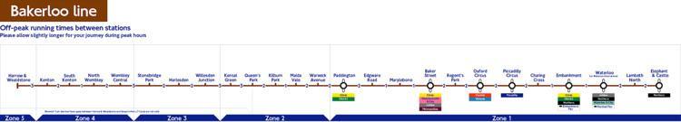 Bakerloo line London Underground Bakerloo Line station list amp map