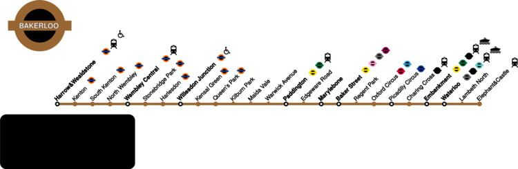 Bakerloo line FileBakerloo line Topological mapsvg Wikipedia