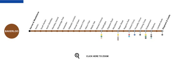 Bakerloo line Bakerloo Line London Map Timetable Service Status