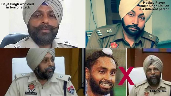 Baljit Singh Dhillon Hockey player Baljit Singh Dhillon Olympian is safe and sound