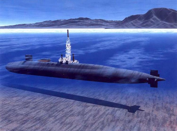Ballistic missile submarine FileUS Navy 030814N0000X004 Illustration of USS Ohio SSGN 726