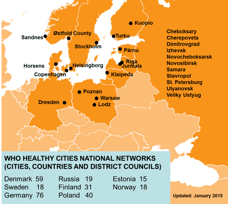 Baltic region WHO Healthy Cities Network in the Baltic Sea Region