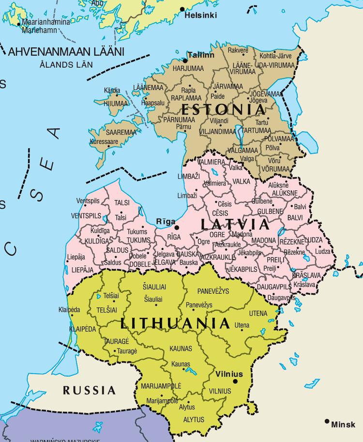 Baltic states Baltic States Map Mapsofnet