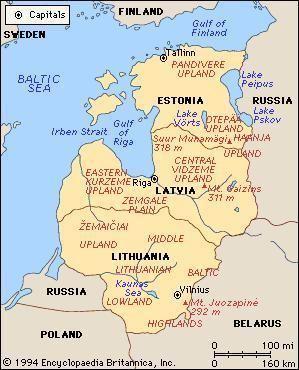 Baltic states Baltic states region Europe Britannicacom
