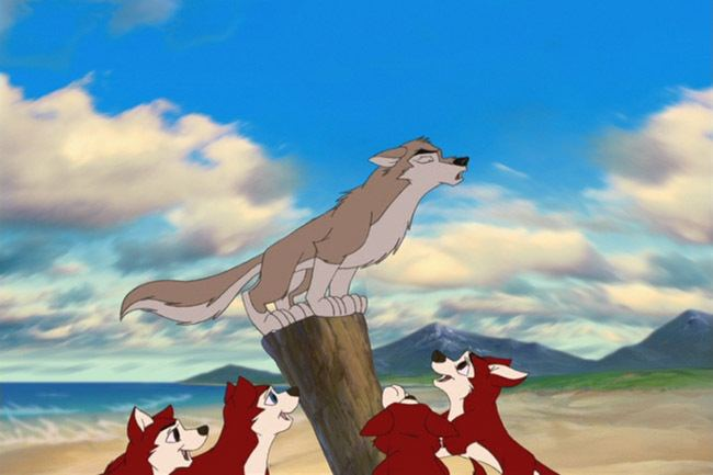 Balto II: Wolf Quest movie scenes But one day a hunter points a gun on Aleu attempting to snatch some food for the week Balto and his friends manage to ward off the hunter