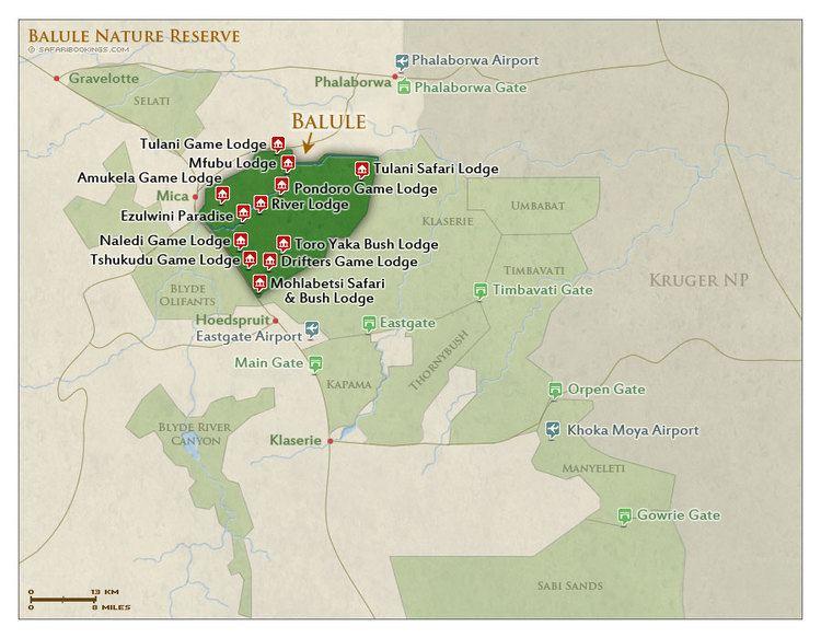 Balule Nature Reserve Balule NR Map Detailed map of Balule Nature Reserve
