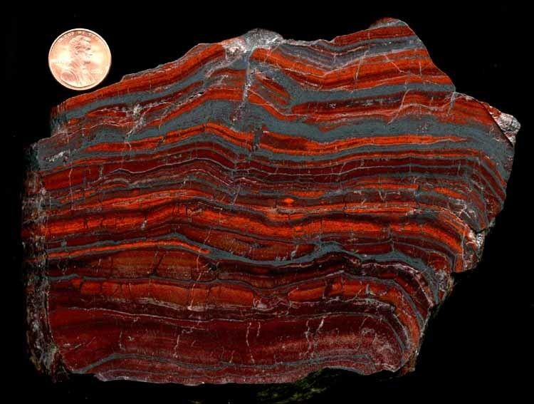 Banded iron formation History of Earth39s Atmosphere II Earth Science Visionlearning