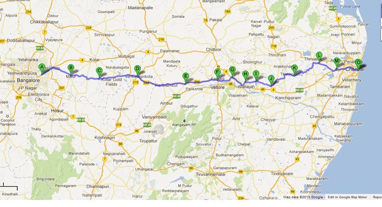 chennai to bangalore map Bangalore Chennai Expressway Alchetron The Free Social Encyclopedia chennai to bangalore map