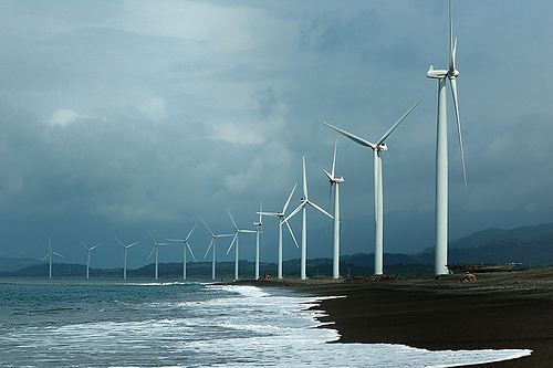 Bangui Wind Farm Bangui Bay wind farm in Ilocos Norte Philippines REVE