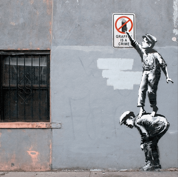 Banksy Graffiti artist Banksy SPOTTED for second time in a month