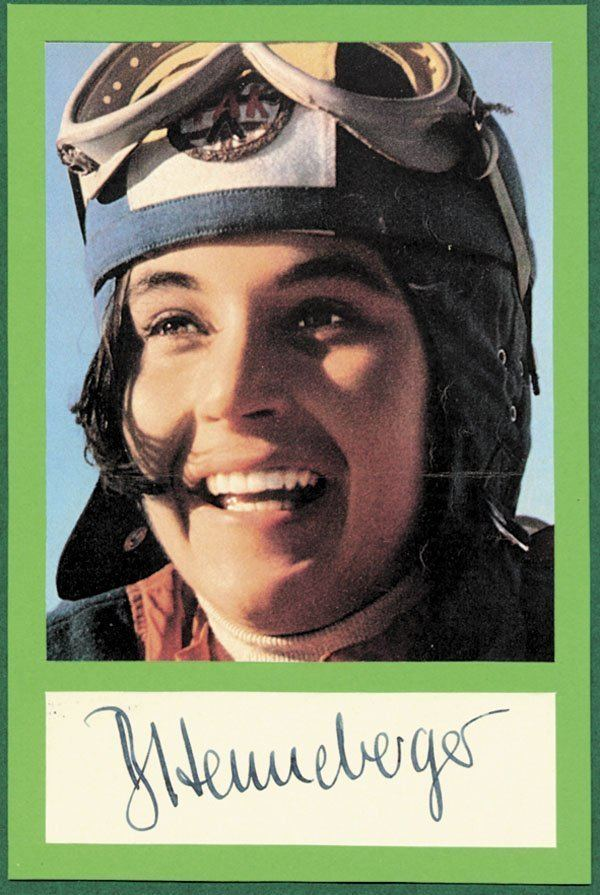 Barbara Henneberger Barbi Henneberger German ski racer and alpine style icon Vintage