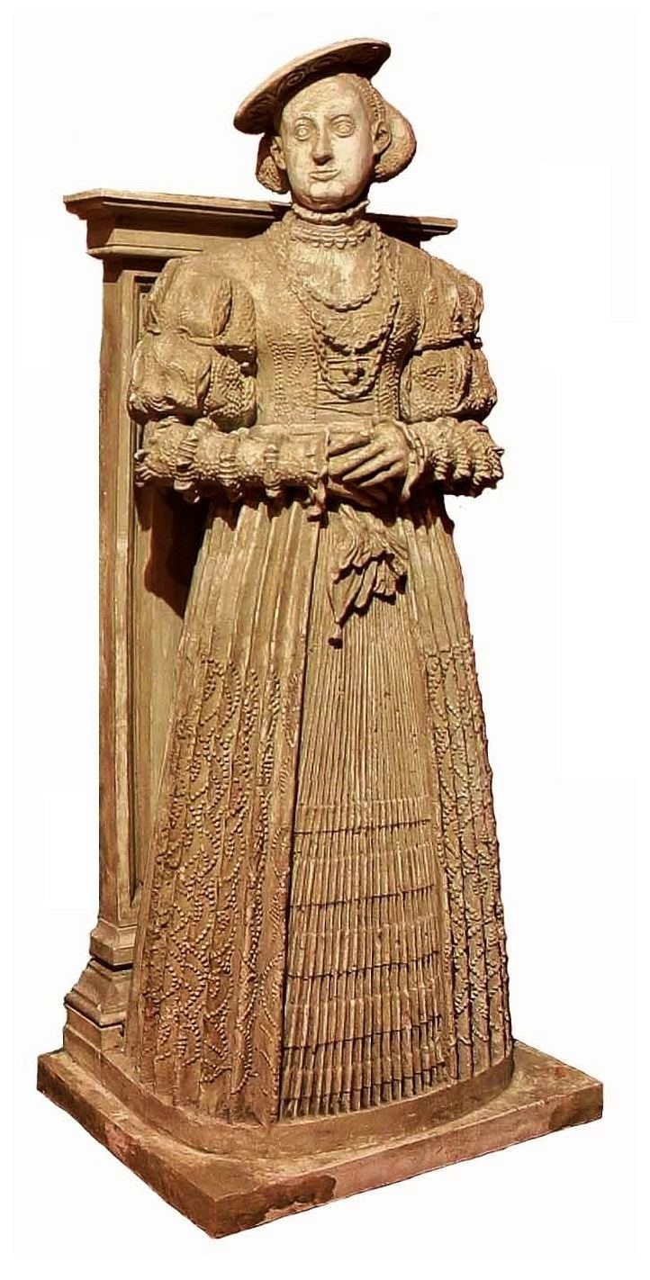 Barbara of Brandenburg, Duchess of Brieg Statue of Barbara of Brandenburg Duchess of Brieg Brzeg by