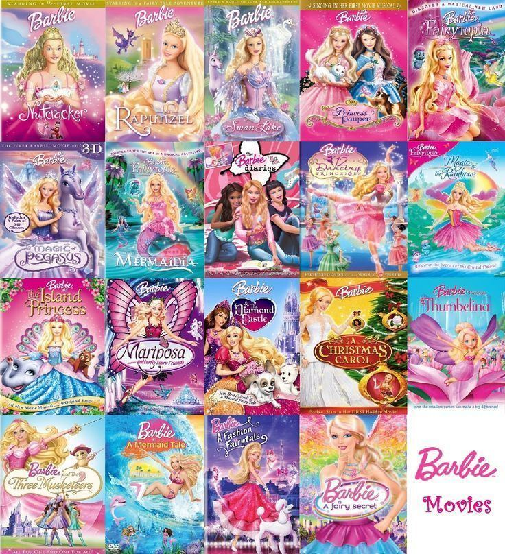 Barbie (film series) Barbie Movies Collection COMPLETE barbiemovies Wishesfun