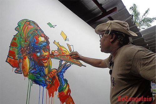Barly Baruti Barly Baruti fait la promotion de sa bande dessine
