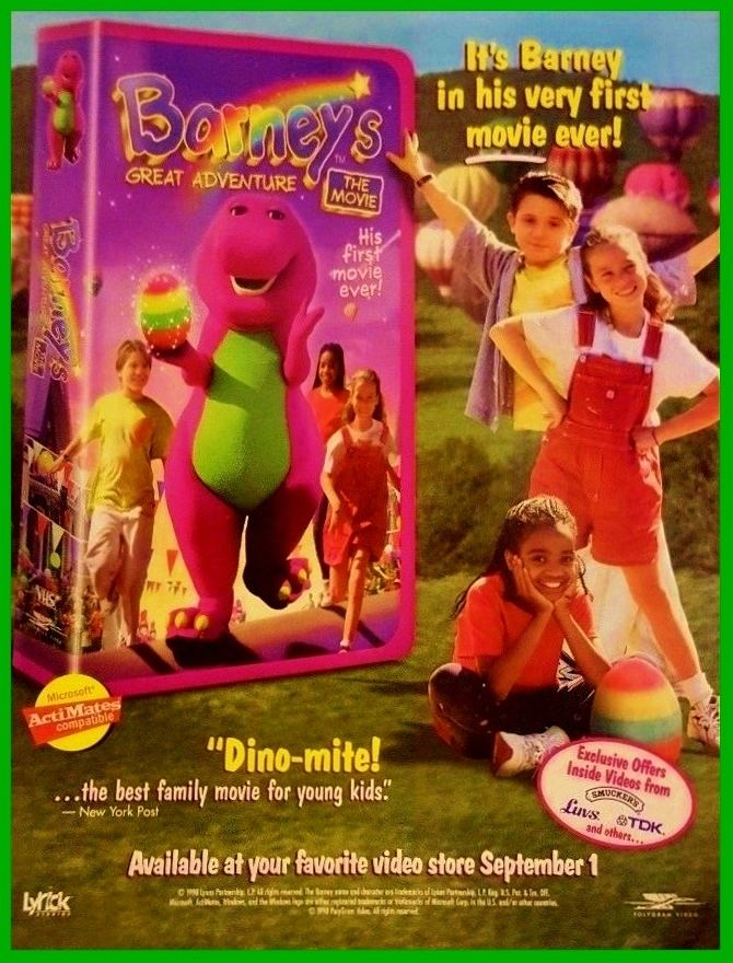 Barney's Great Adventure Barneys Great Adventure Video Promo Ad by BestBarneyFan on DeviantArt
