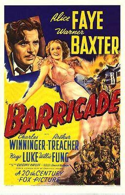 Barricade (1939 film) movie poster
