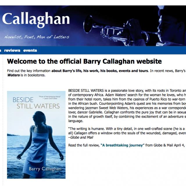Barry Callaghan Barry Callaghan Author Website Kendra Martin