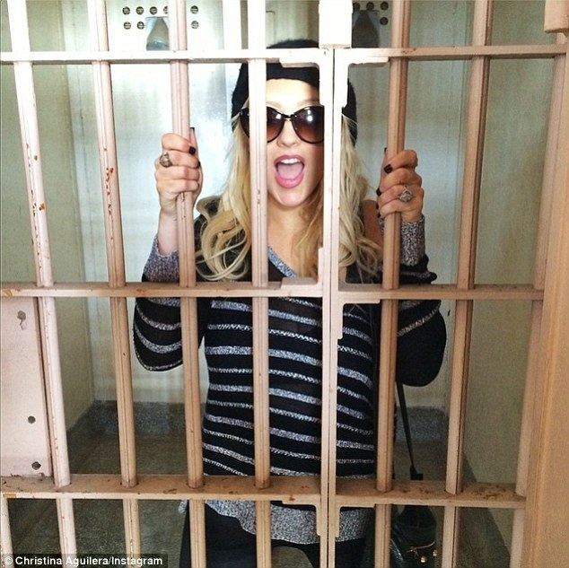 Bars and Stripes movie scenes Behind bars Christina Aguilera Instagrammed this photo on Sunday with the caption