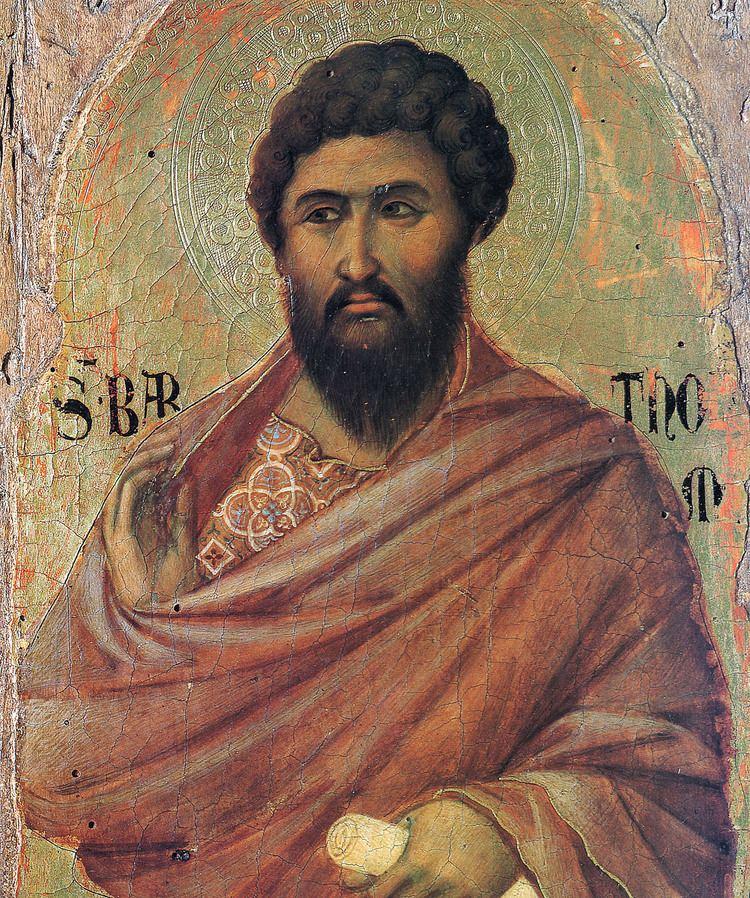 Bartholomew the Apostle The Apostle Bartholomew Duccio WikiArtorg