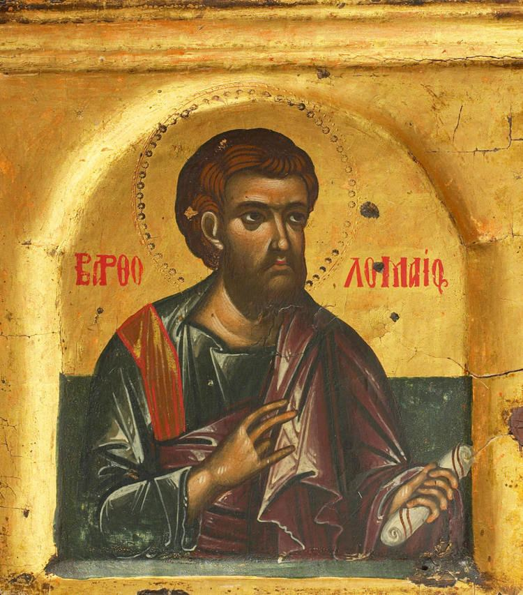 Bartholomew the Apostle Saint Theodore the Studite on Bartholomew the Apostle