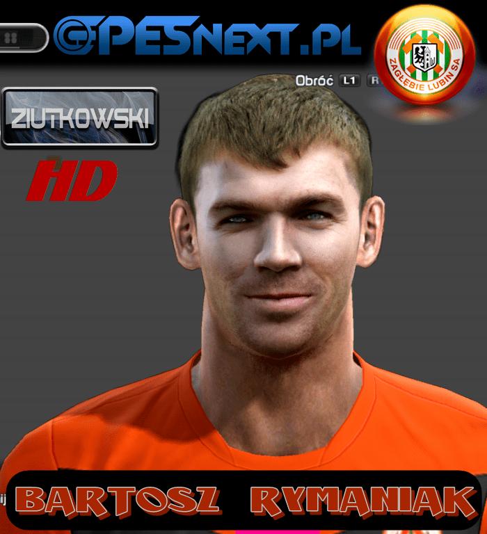 Bartosz Rymaniak Bartosz Rymaniak face for Pro Evolution Soccer PES 2013