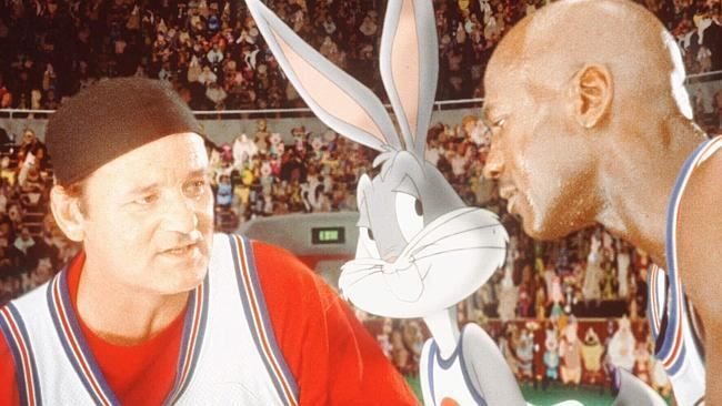 Baseball Bugs movie scenes Bill Murray left Bugs Bunny and Michael Jordan are shown in a scene from the Warner Bros film Space Jam Source AP