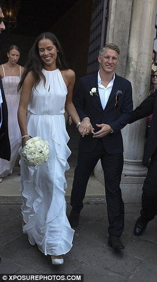 Bastian Schweinsteiger Bastian Schweinsteiger marries tennis ace Ana Ivanovic at glamorous