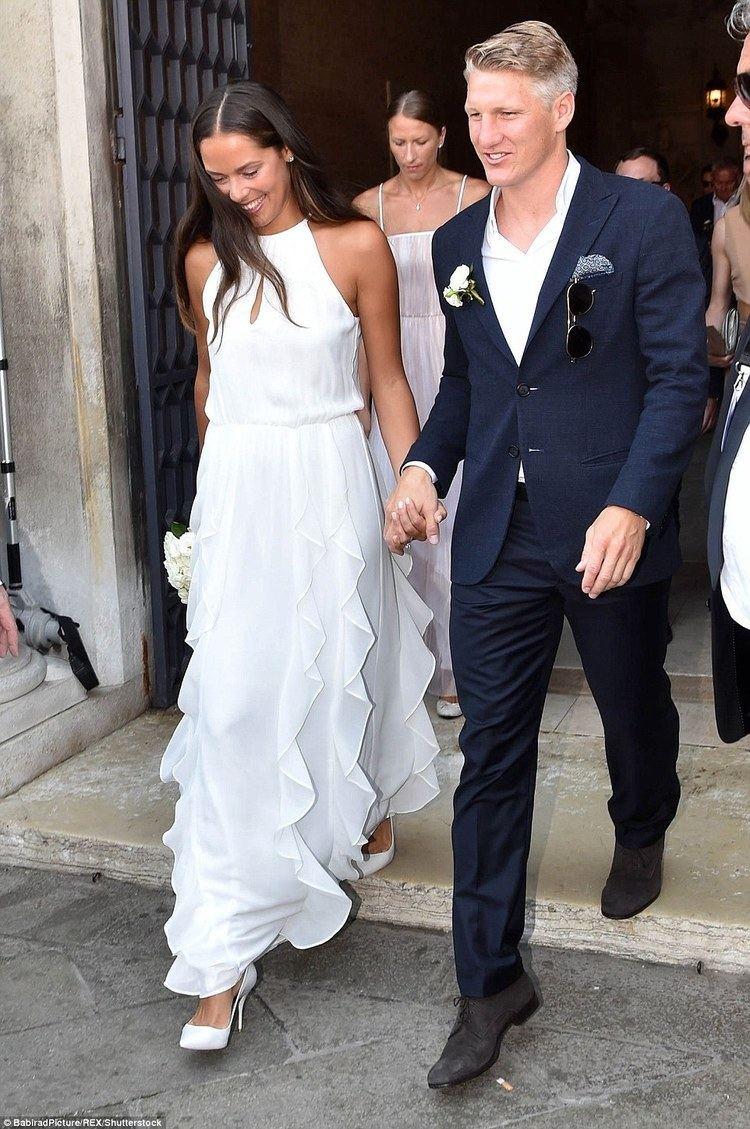 Bastian Schweinsteiger Ana Ivanovic marries footballer Bastian Schweinsteiger in Venice