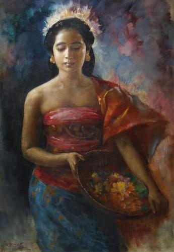 Basuki Abdullah Javanese Girl Basuki Abdullah WikiArtorg