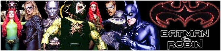 Batman %26 Robin (film) movie scenes Batman Robin Movie Banner 1997 George Clooney Batman Film