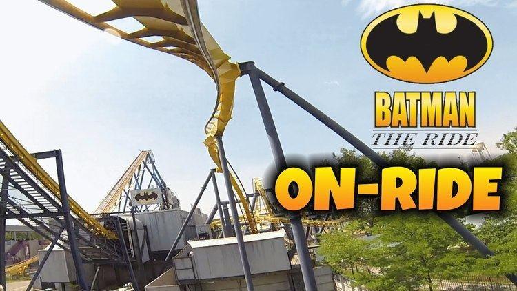 Batman: The Ride Batman The Ride Onride Front Seat HD POV Six Flags Great