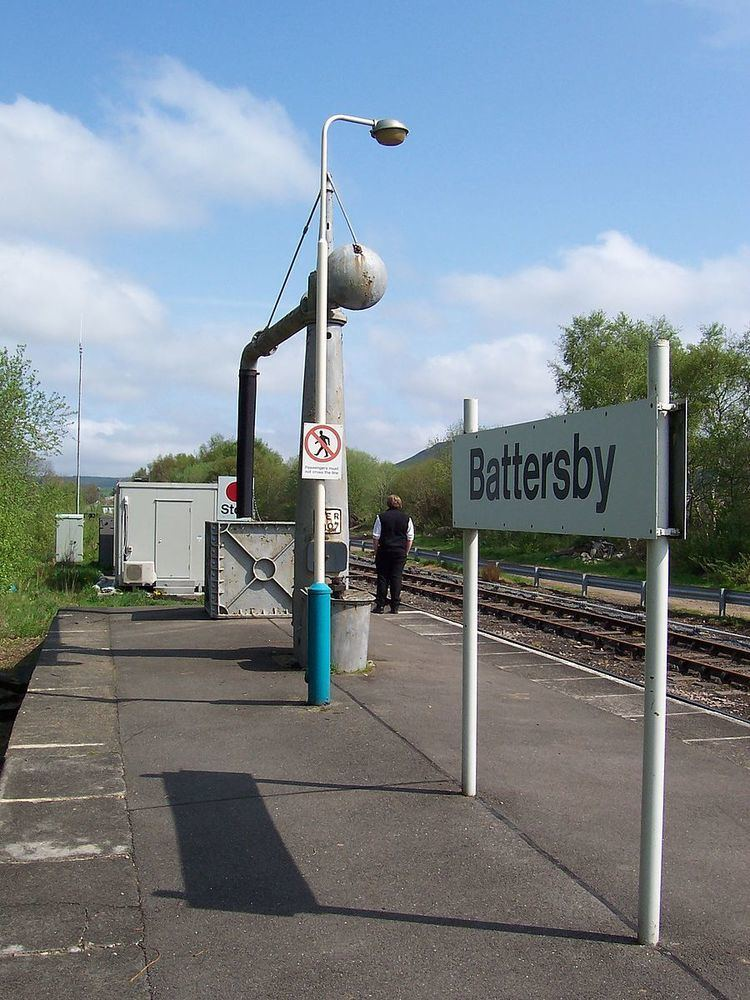 Battersby railway station