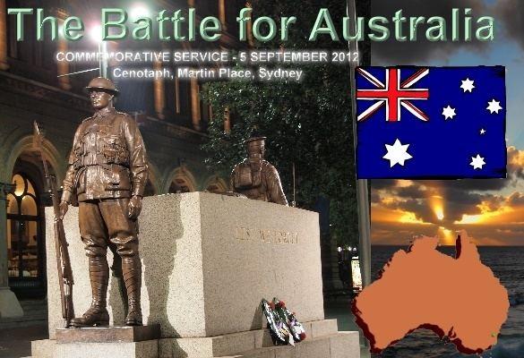 Battle for Australia Battle for Australia Commemorative Service Cenotaph Martin Place