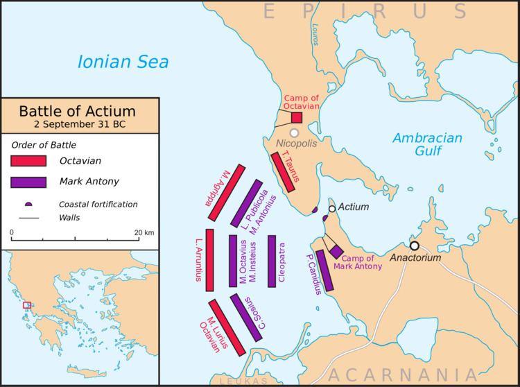 Battle of Actium Battle of Actium Wikipedia the free encyclopedia