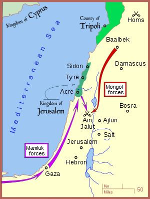 Battle of Ain Jalut httpsuploadwikimediaorgwikipediacommonsthu