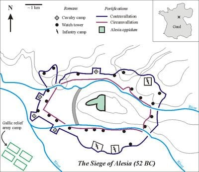 Battle of Alesia Battle of Alesia Wikipedia