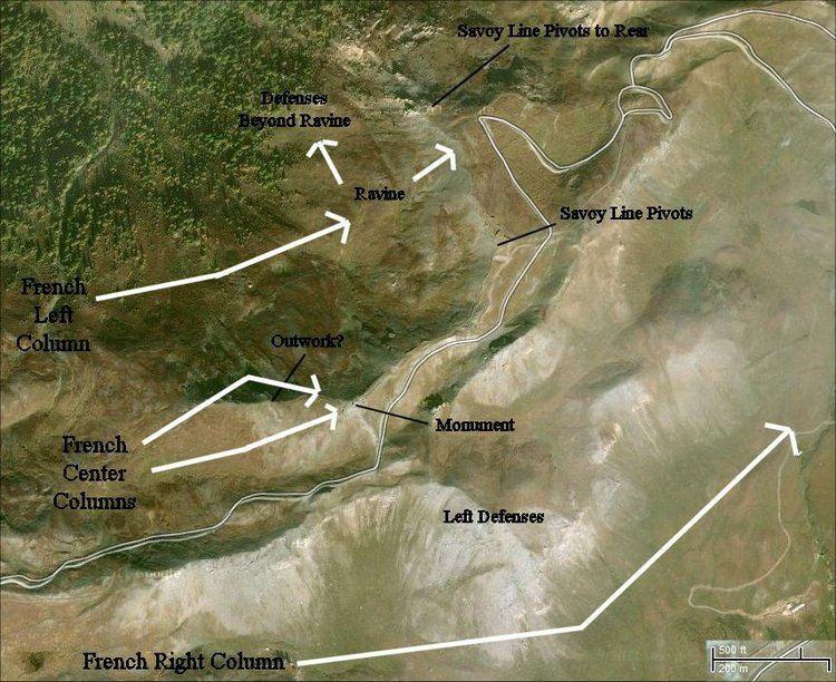 Battle of Assietta wwwjohnsmilitaryhistorycomassietta0911mapjpg