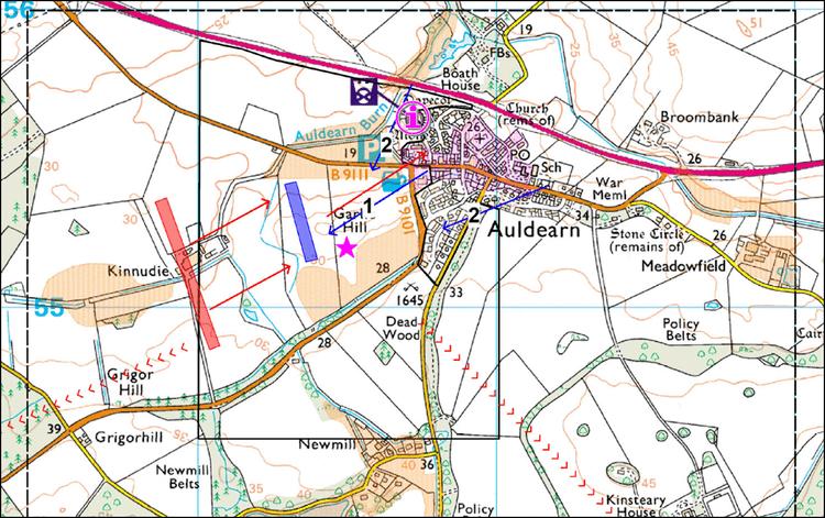 Battle of Auldearn Project Auldearn 1645 Maps moving towards a battlefield landscape