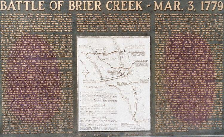 Battle of Brier Creek Battle of Brier Creek Wikipedia