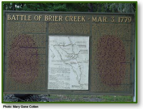 Battle of Brier Creek Historical Markers by County GeorgiaInfo