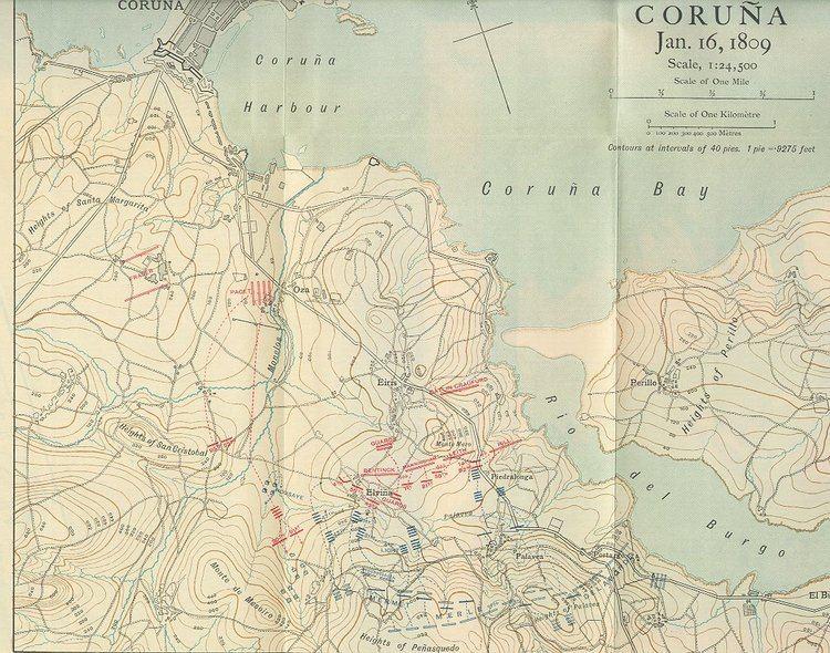 Battle of Corunna The Peninsular War The Battle of La Corua Corunna Elvia