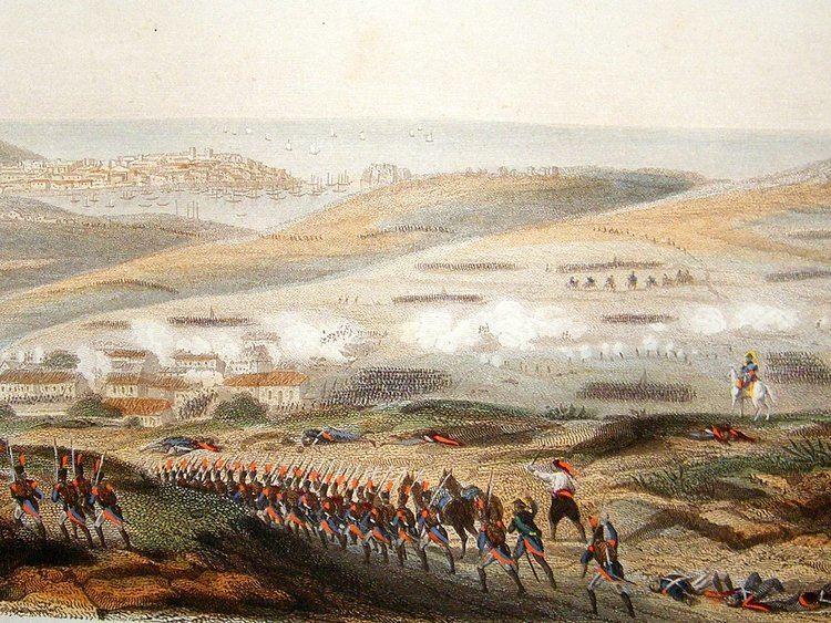 Battle of Corunna Napoleonic Wars C1850 Battle of Corunna Spain Hand Col Print