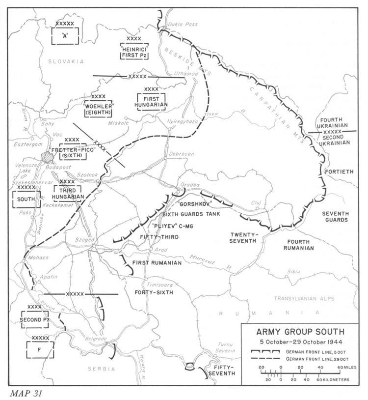 Battle of Debrecen HyperWar Stalingrad to Berlin The German Defeat in the East