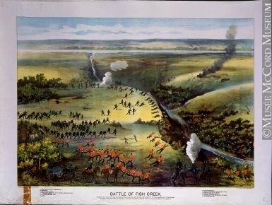 Battle of Fish Creek M4847 Battle of Fish Creek Print F W Curzon McCord Museum