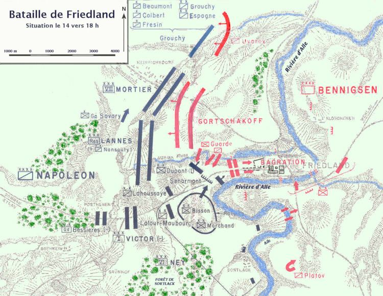 Battle of Friedland Battle of Friedland in the Napoleonic Wars