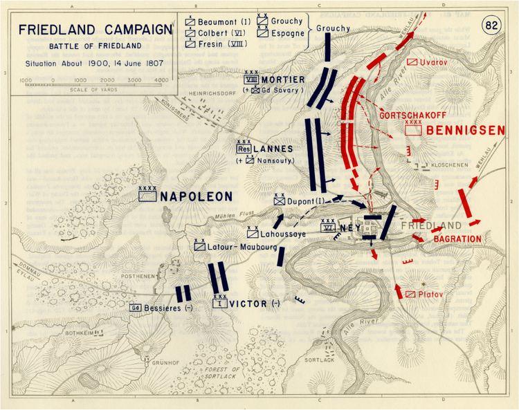 Battle of Friedland The Battle of Friedland 1807 The 11W Military History Series